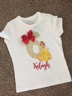 Belle birthday shirt belle birthday belle shirt red rose beauty and beast. Beauty And Beast Birthday, Beauty And The Beast Party, Latina Models, Embroidery Designs, Salon Price List, Vogue Magazine Covers, Logo Face, Disney Shirts For Family, Beauty Logo