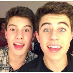 Nash Grier Shawn Mendes Vine Boys ❤ liked on Polyvore featuring magcon, pictures, boys, magcon boys and nash