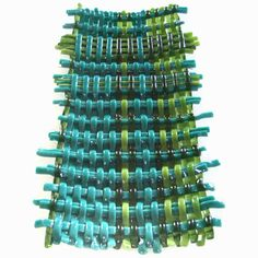 Woven Fused Glass - Woven fused wall and table sculptures