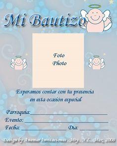 Invitaciones bautizo con foto gratis 89