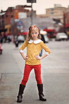 Persnickety Clothing - Skinnies in Red Fall 2013 Phase 1 Short Outfits, Fall Outfits, Kids Outfits, Cute Outfits, Little Fashion, Kids Fashion, Persnickety Clothing, Mod Girl, Red Skinny Jeans