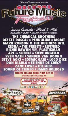 Future Music Festival Poster