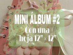 """MINI ALBUM 1/5 CON UNA HOJA DE 12"""" por 12"""". tutorial - YouTube"""
