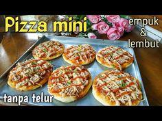 Pizza mini enak, empuk & lembut. Tanpa telur - YouTube Bruschetta, Cooking, Ethnic Recipes, Food, Pizza, Baking Center, Kochen, Hoods, Meals