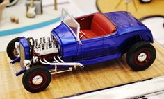 Hot rod model car