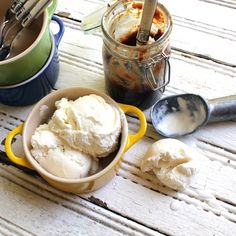 From the Recipe Box: Vanilla Ice Cream – Philly Style:  ...but more often I use an eggless version, referred to as Philadelphia style, that comes together quickly and the ice cream is usually churning in my counter top ice-cream maker (no ice or salt required!) and is ready in about 20 minutes. I love modern ice cream technology!