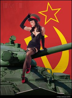 Red Scare Soviet Pinup  In soviet Russia, pin-up made of POTATO! What a country...