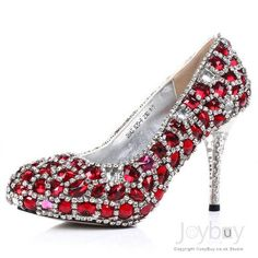 Amazing Styles Red Crystal Sparking