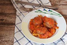 Filetes rusos picantes con patatas y tomate en actifry