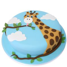 Look at our new additions of exquisite birthday cakes and celebration cakes. Each week we add new exciting designs created by our exceptional cake artists. Giraffe Birthday Cakes, Giraffe Cakes, Safari Cakes, Giraffe Party, Fancy Cakes, Cute Cakes, Africa Cake, Cloud Cake, Bithday Cake