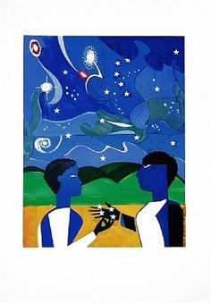 Two Worlds/ Faces Of The Future by Romare Bearden
