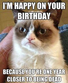Grumpy Cat Happy on Your Birthday