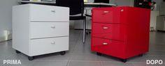 Riqualificazione cassettiera con pellicola adesiva.  Prodotto utilizzato: 3M™ DI-NOC™ Wrap, Filing Cabinet, Storage, Furniture, Home Decor, Purse Storage, Decoration Home, Room Decor, Larger