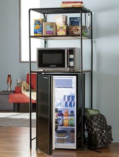 Mini Fridge Amp Microwave Stand With Slide Out Cutting