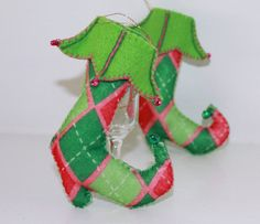 Christmas Felt Hanging Ornament Harlequin by PepitasStudio on Etsy