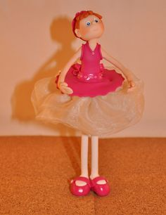 Sweet Girl Ballerina - Handmade with Polymer Clay by FriendlyFigures on Etsy