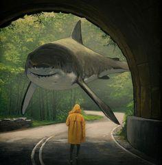 11 Ideas De Chris Austin Tiburones Arte Surrealista Surrealismo