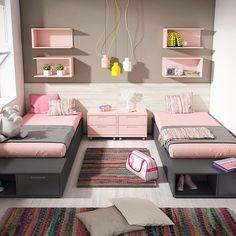 Dormitorio Doble - Catálogo UP16 #junior #room #dormitorio #juvenil #mueble #grupoexojo #up16