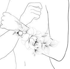 Ems Tattoos, Girly Tattoos, Dope Tattoos, Music Tattoos, Flower Tattoos, Sleeve Tattoos, Rose Drawing Tattoo, Tattoo Set, Tattoo Drawings