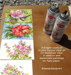 *SANDY SANDY ART*: Tips For Painting In Watercolor, Alcohol Ink and Sealing Yupo Paper