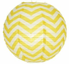 "14"" Yellow Chevron Paper Lantern - $8.50"