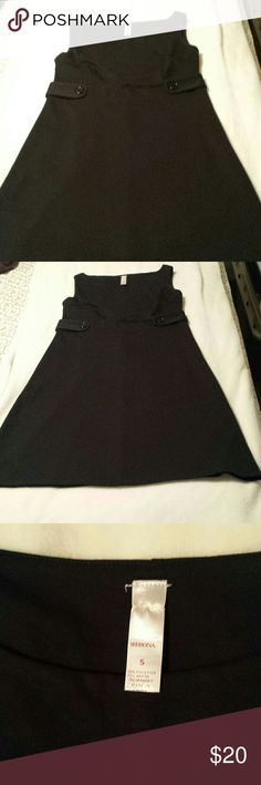 Merona Black Mini Dress w Button Detail This Black Mini Dress has a button detail around the waist to cinch it in as this dress is fitted. You can see this in pictures 1 and 2. A Size Small this dress is in perfect condition. Made by Merona this dress can be dressed up or down. Merona Dresses Mini