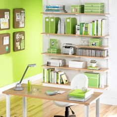 I would LOVE to color coordinate the desk area, doesn't have to be all one color...
