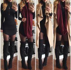 Mock Neck Bodycon Dress - Black (PREORDER) – Colors of Aurora