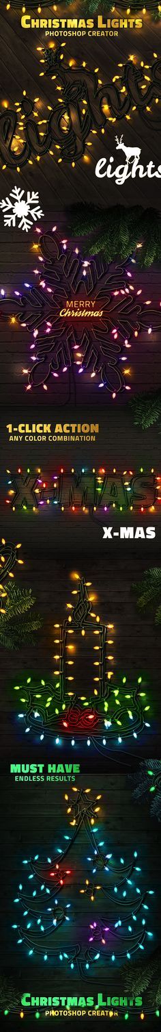 Christmas Lights Photoshop Creator • Only available here ➝ https://graphicriver.net/item/christmas-lights-photoshop-creator/14117129?ref=pxcr