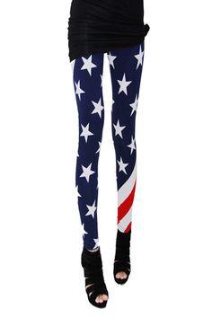 Stars Print Ankle Leggings [NCSPK0012] - $24.99 :  romwe.com #Romwe
