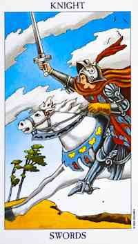 The Knight of Swords often reflects a time when you are embarking on a new project or idea and there really is no stopping you. You have had this sudden burst of energy that is propelling you forward and inspiring you to take quick action to manifest your goals.
