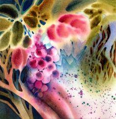 Negative Style Painting by Suzi Vitulli - Keys to Successful Watercolors Watercolor Negative Painting, Abstract Watercolor, Watercolor And Ink, Watercolor Flowers, Watercolor Paintings, Watercolors, Watercolor Tattoos, Abstract Art, Abstract Nature