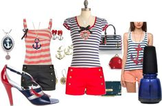 """""""Nautical clothes are so cute!"""" by heatherrenee-1 on Polyvore"""
