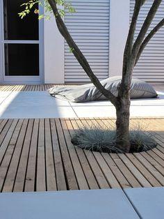Contemporary garden idea - Home - Garden Floor Garden Floor, Terrace Garden, Garden Trees, Garden Pavilion, Amazing Gardens, Beautiful Gardens, Unique Garden, Terrace Design, Patio Design