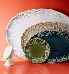 Love the organic shapes of these platters. Mix different shapes to create your own look.
