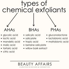 The different kinds of chemical exfoliants, in our skincare ingredient guide. How to choose the right exfoliant for you and what are the benefits of exfoliating! Face Care Routine, Skin Care Routine Steps, Face Skin Care, Healthy Skin Care, Tips Belleza, Skin Tips, Skin Treatments, Skin Makeup, Beauty Skin
