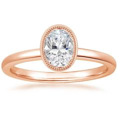 Oval Cut Sierra Diamond Engagement Ring - 14K Rose Gold