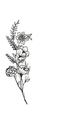 Wildflower tattoo ☽☯☾magickbohemian
