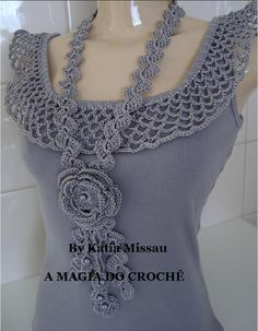 UPcycle a bland tank top into an eye catching Flashy Shirt!:-) The necklace is great!!!