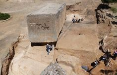 New excavations in Baalbek monolith enigmatic site of Baalbek have unearthed a monolithic block along 19.60 meters from the estimated weight of about 1650 tons.
