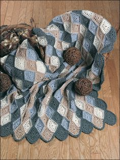 Crochet - Afghan & Throw Patterns - Assorted Patterns - Delaware Diamonds