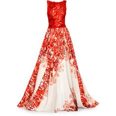 Tony Ward - satinee.polyvore.com ❤ liked on Polyvore featuring dresses, gowns, long dresses, vestidos, red ball gown, long red dress, evening gowns and evening dresses