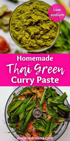 This easy delicious homemade Thai Green Curry Paste is healthier and fresher than the store-bought jar. Made from scratch with a fragrant aroma and tongue-tingling sensation, without being overly spicy. Perfect addition to your recipe book and pantry. Make your favorite creamy coconut chicken, beef, etc curry. Marinade meats, seafood. Make a dressing salad or stir fry. This recipe makes 2 dinners for 4 people. #thaifood #diy #easyrecipes #greencurry #currypaste #pasterecipe #recipes… Thai Recipes, Quick Recipes, Creamy Coconut Chicken, Thai Green Curry Paste, Macro Friendly Recipes, Paste Recipe, Curry Dishes, Your Recipe, Stir Fry