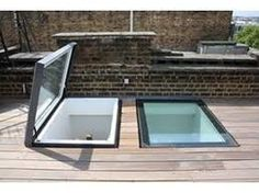 Pergola Attached To Roof Roof Skylight, Skylights, Green Roof Benefits, Walking On Glass, Pool Paving, Low Ceiling Basement, Retractable Pergola, Roof Deck, Rooftop Terrace