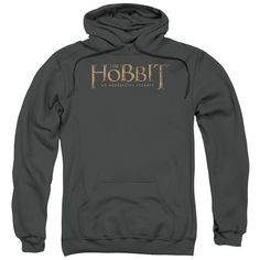 Hobbit/Distressed Logo-Charcoal