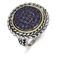 Ramona Fashion Ring, 1.80cts of beautiful sapphires set in antique SS and 14kt gold. $299.00 (http://www.manmadelabdiamonds.com/ramona-fashion-ring/) . #manmadelabdiamonds #fashionring