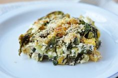Baked Zucchini, Spinach, and Feta