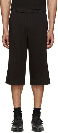 PAUL SMITH Black Jersey Shorts. #paulsmith #cloth #shorts