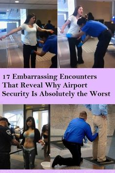Airport security agents have gained a notorious reputation to cause alot of embarrassment to passengers with unnecessary methods of searching, here are 17 such times the TA excelled themselves in notoriety. Wtf Funny, Funny Jokes, Fly Safe, Airport Security, Celebrity Gossip, Good People, Awkward, Haha, Funny Pictures