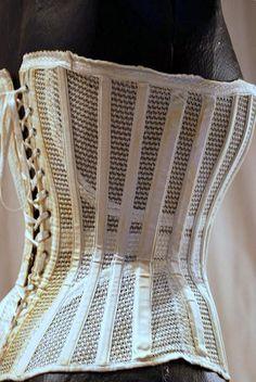 Late 19thc mesh summer corset.